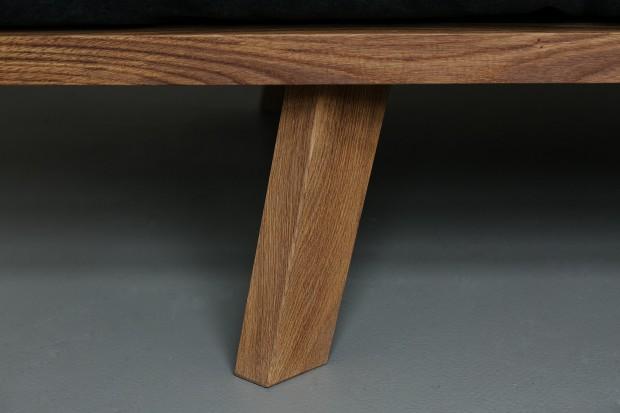 pied en bois de chêne du canapé Oak Linen Sofa