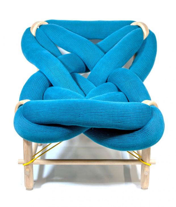 Fauteuil bleu design Veega Tankun